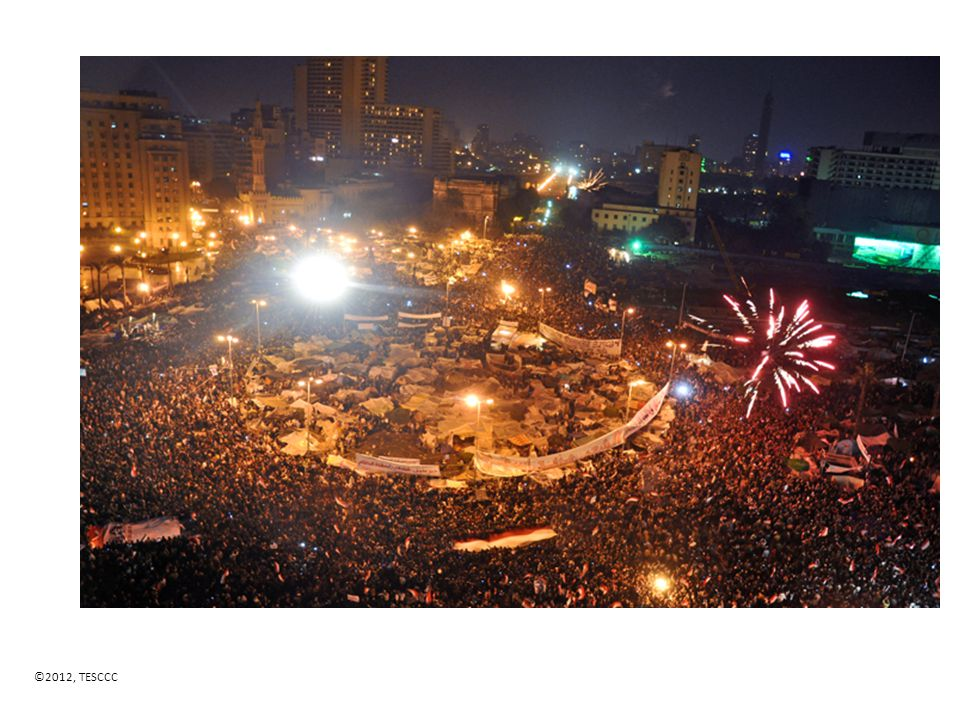 Celebrations in Tahrir Square after Mubarak's resignation wikicommons