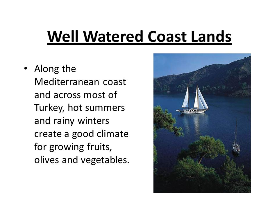 Well Watered Coast Lands
