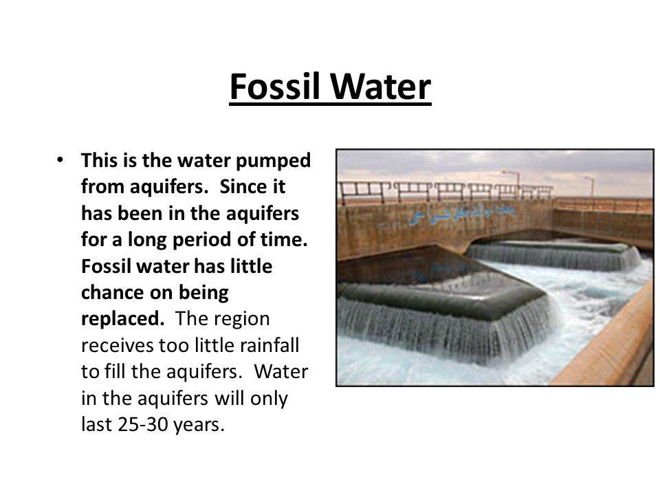 Fossil Water