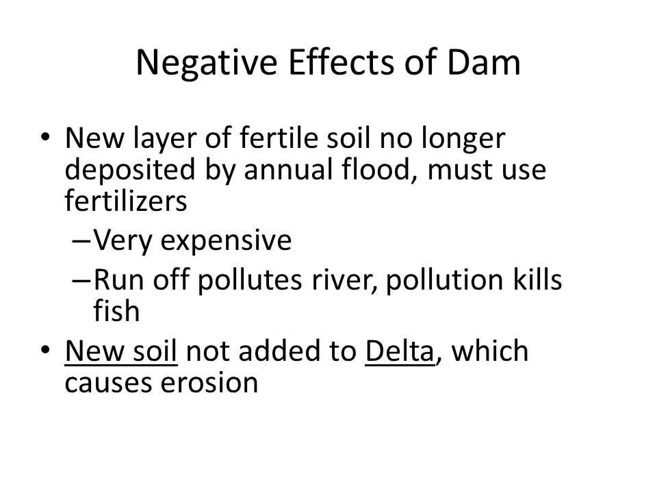 Negative Effects of Dam