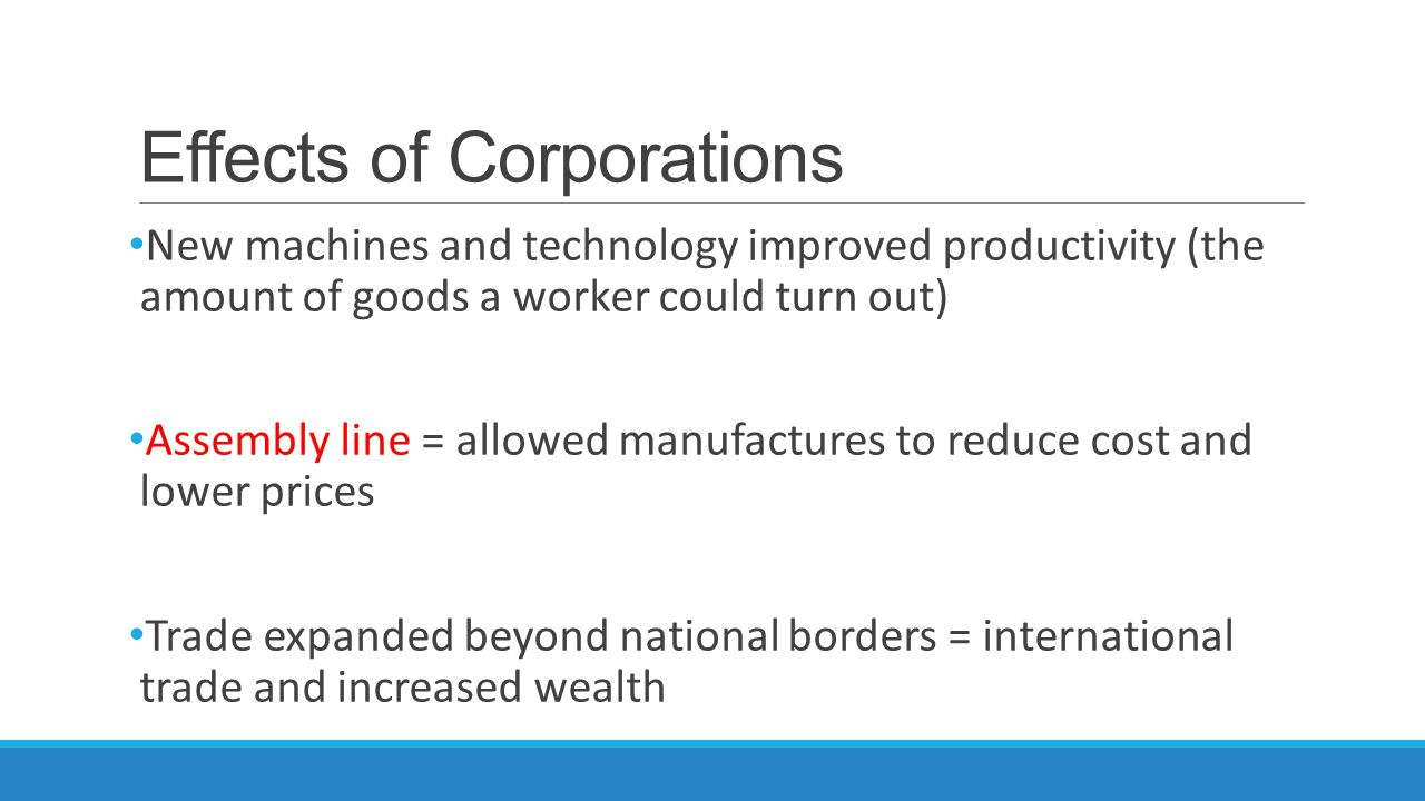 Effects of Corporations