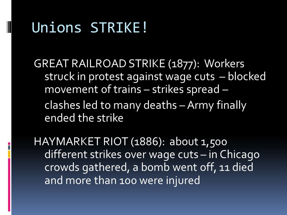 Unions STRIKE!