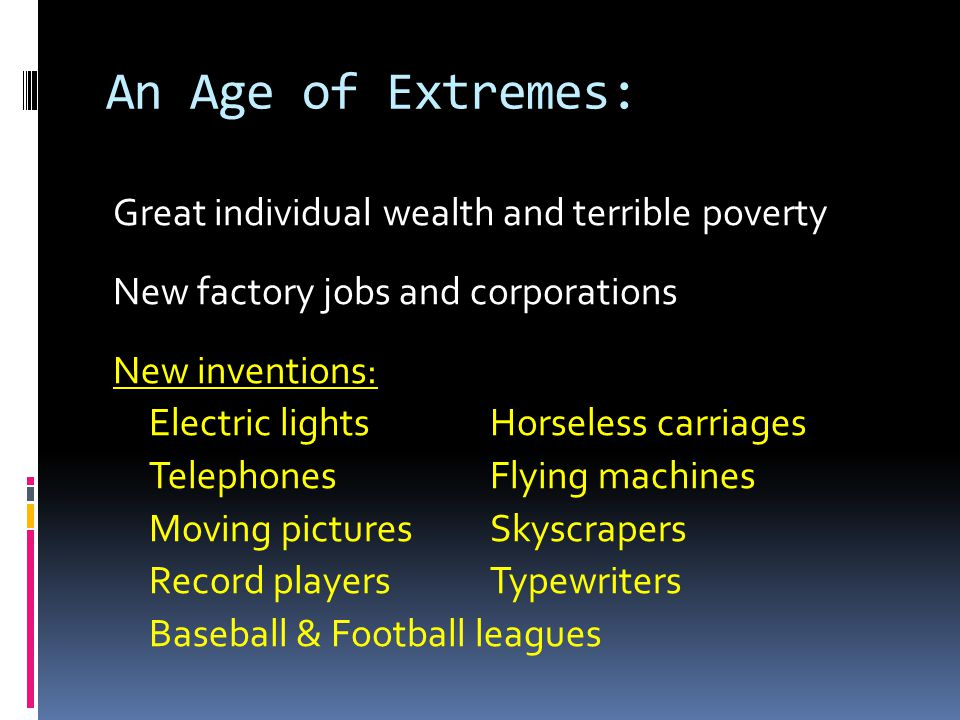 An Age of Extremes: