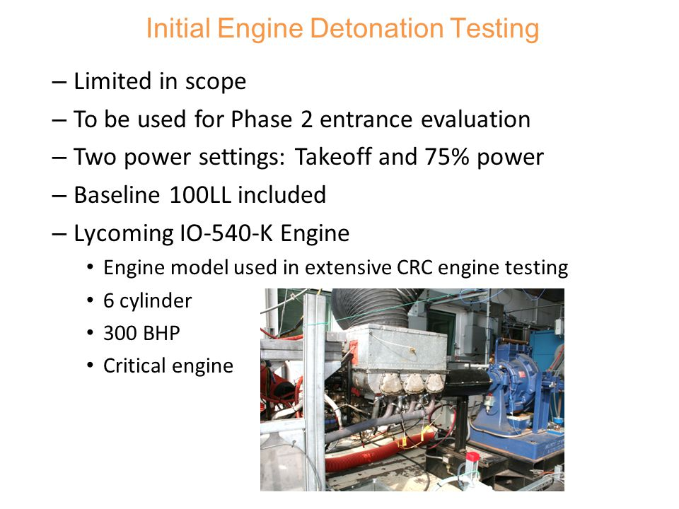 Initial Engine Detonation Testing