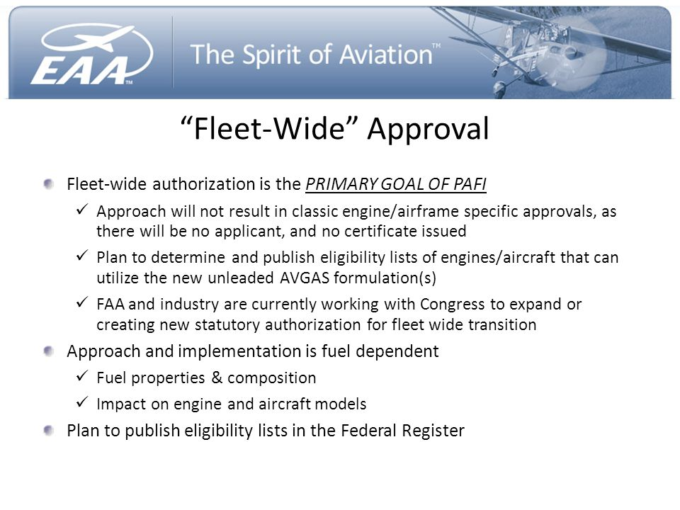 Fleet-Wide Approval