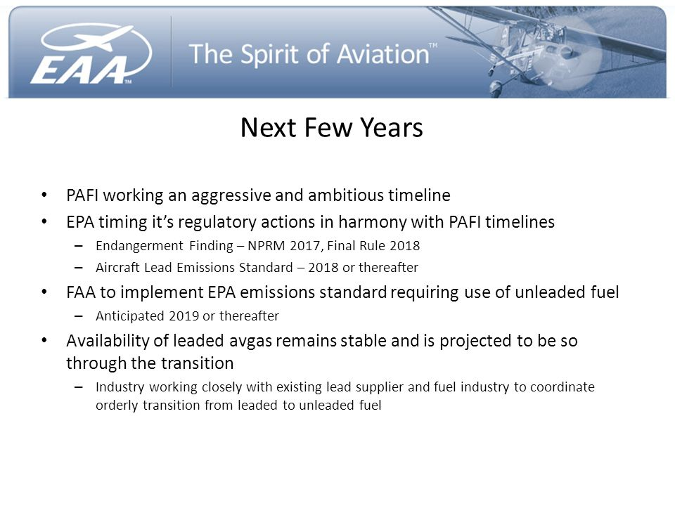 Next Few Years PAFI working an aggressive and ambitious timeline