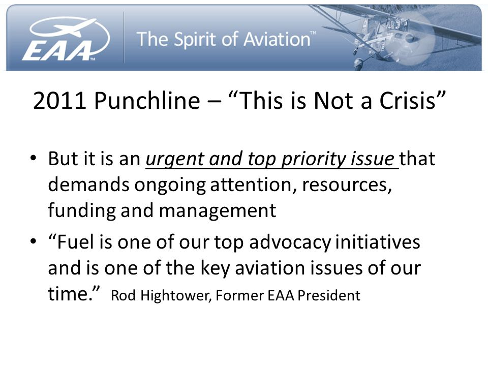 2011 Punchline – This is Not a Crisis