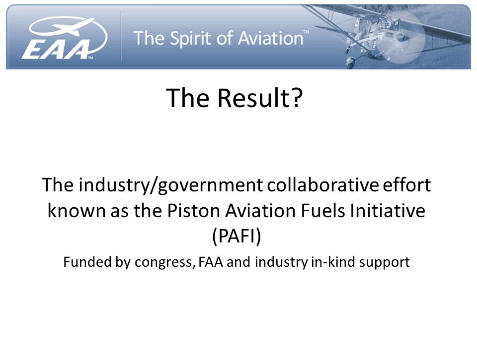 Funded by congress, FAA and industry in-kind support
