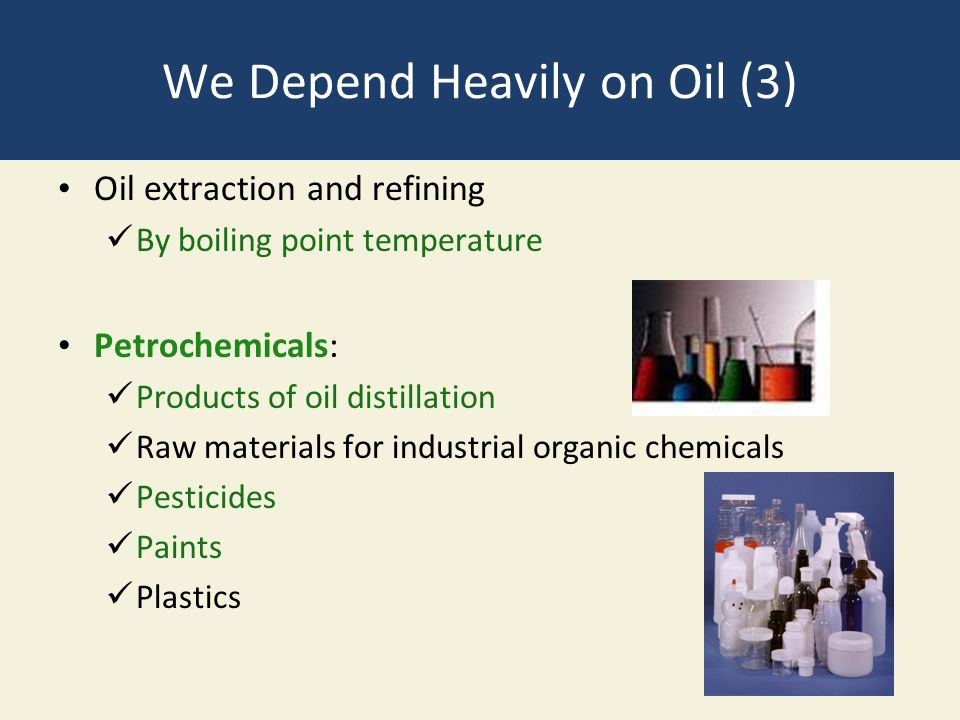We Depend Heavily on Oil (3)