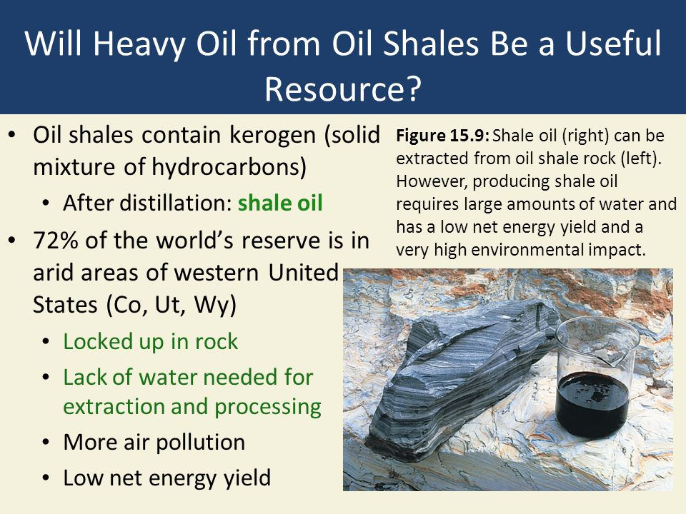 Will Heavy Oil from Oil Shales Be a Useful Resource