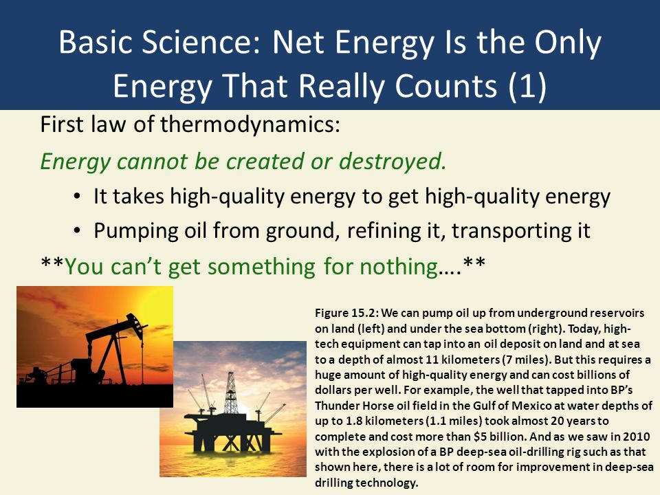 Basic Science: Net Energy Is the Only Energy That Really Counts (1)