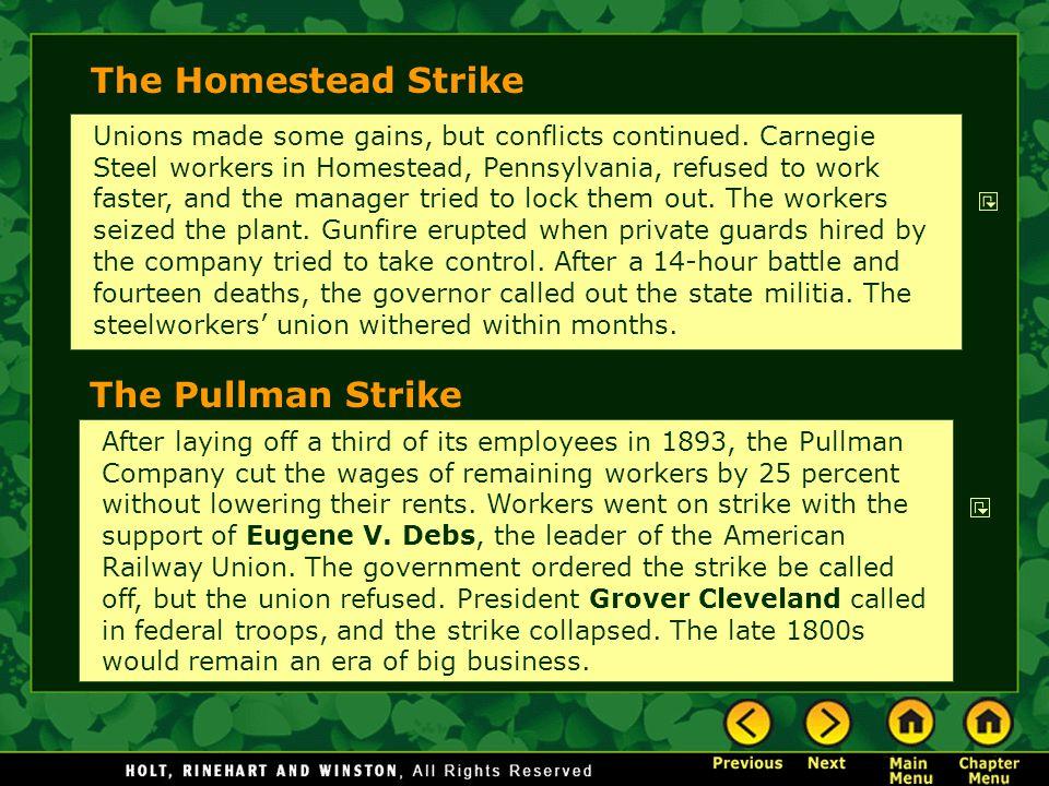 The Homestead Strike The Pullman Strike