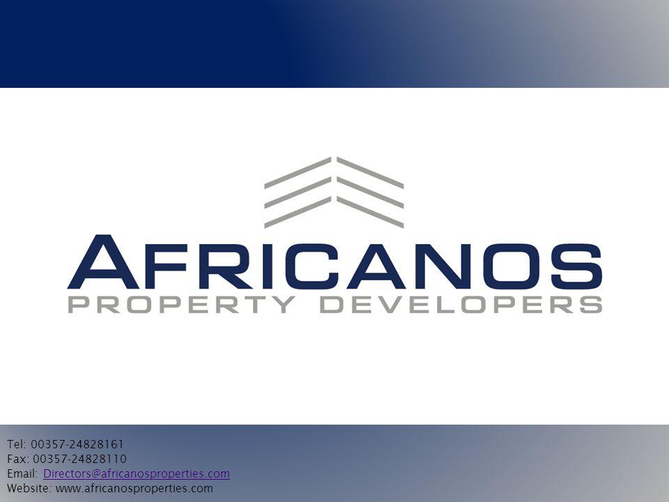 Tel: 00357-24828161 Fax: 00357-24828110. Email: Directors@africanosproperties.com.