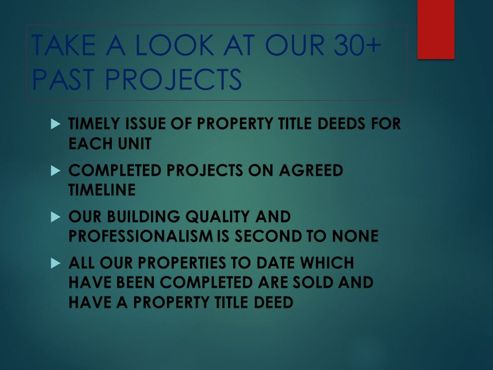 TAKE A LOOK AT OUR 30+ PAST PROJECTS