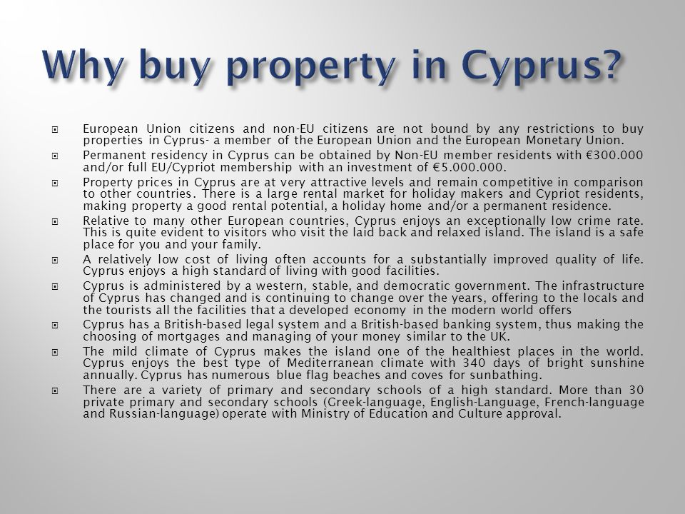 Why buy property in Cyprus