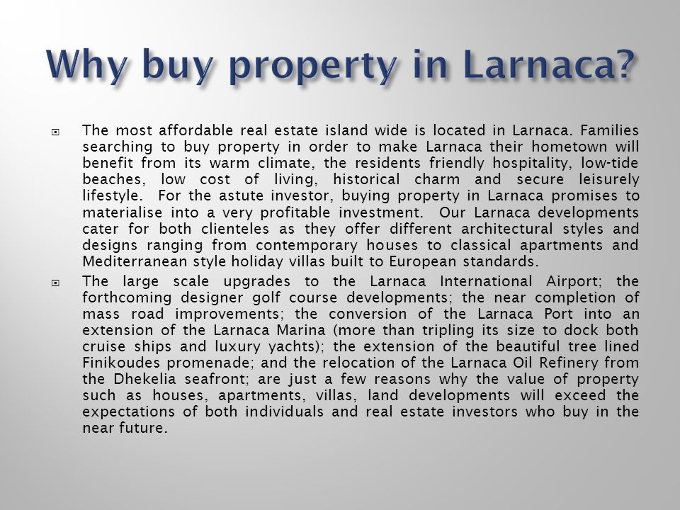 Why buy property in Larnaca