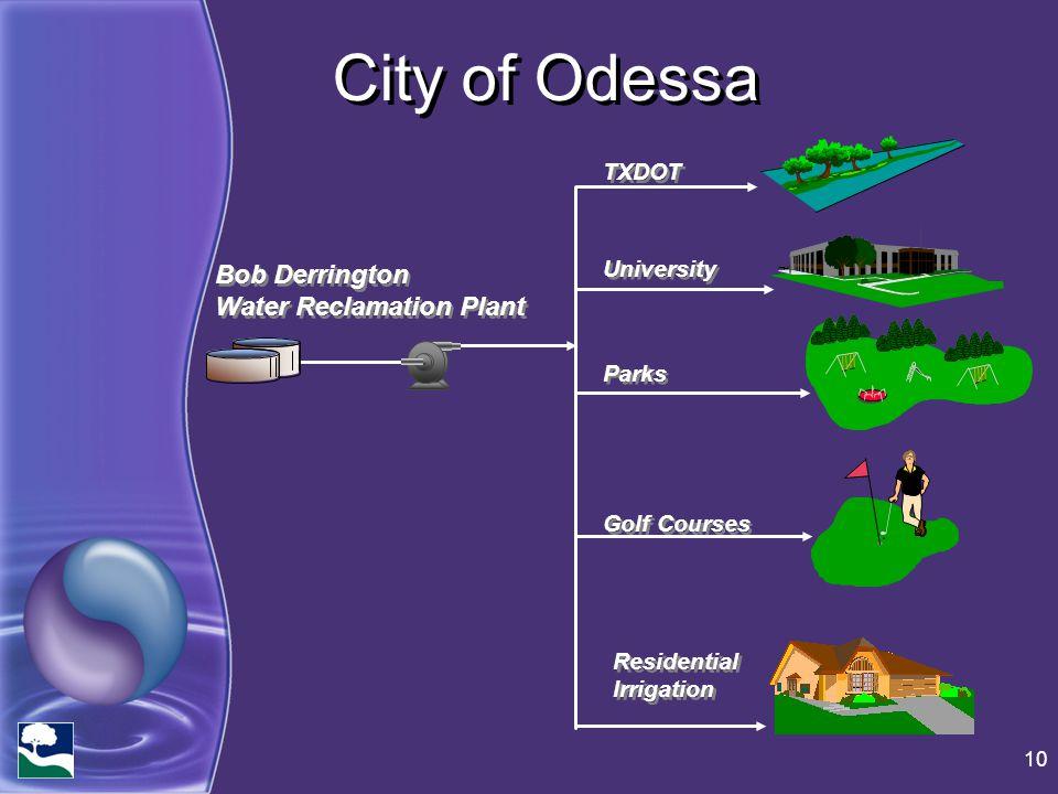 City of Odessa Bob Derrington Water Reclamation Plant TXDOT University