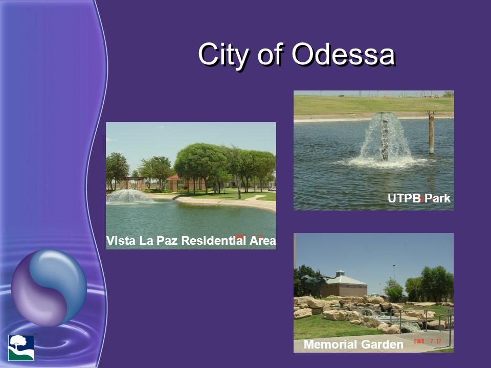 City of Odessa UTPB Park Vista La Paz Residential Area Memorial Garden