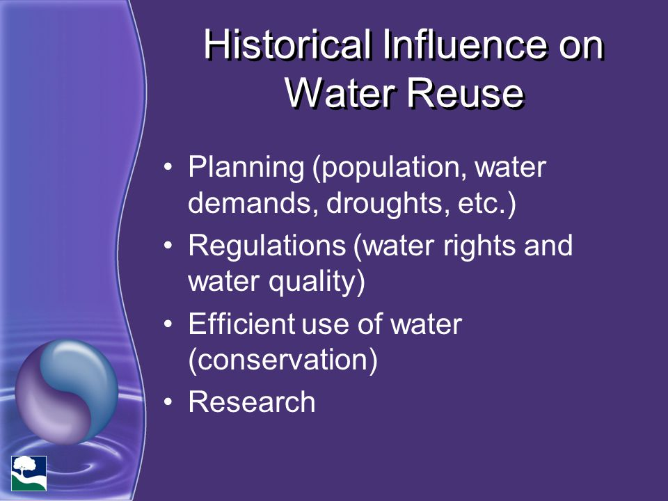 Historical Influence on Water Reuse