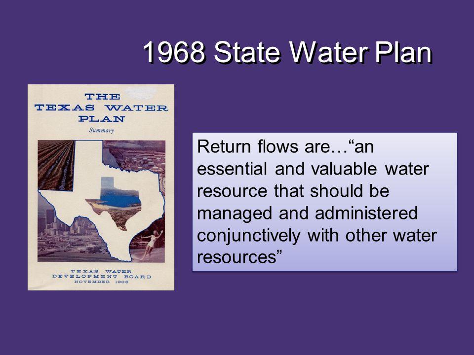 1968 State Water Plan