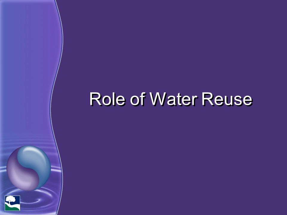 Role of Water Reuse