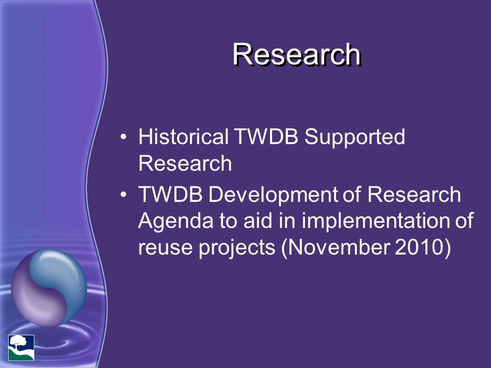 Research Historical TWDB Supported Research