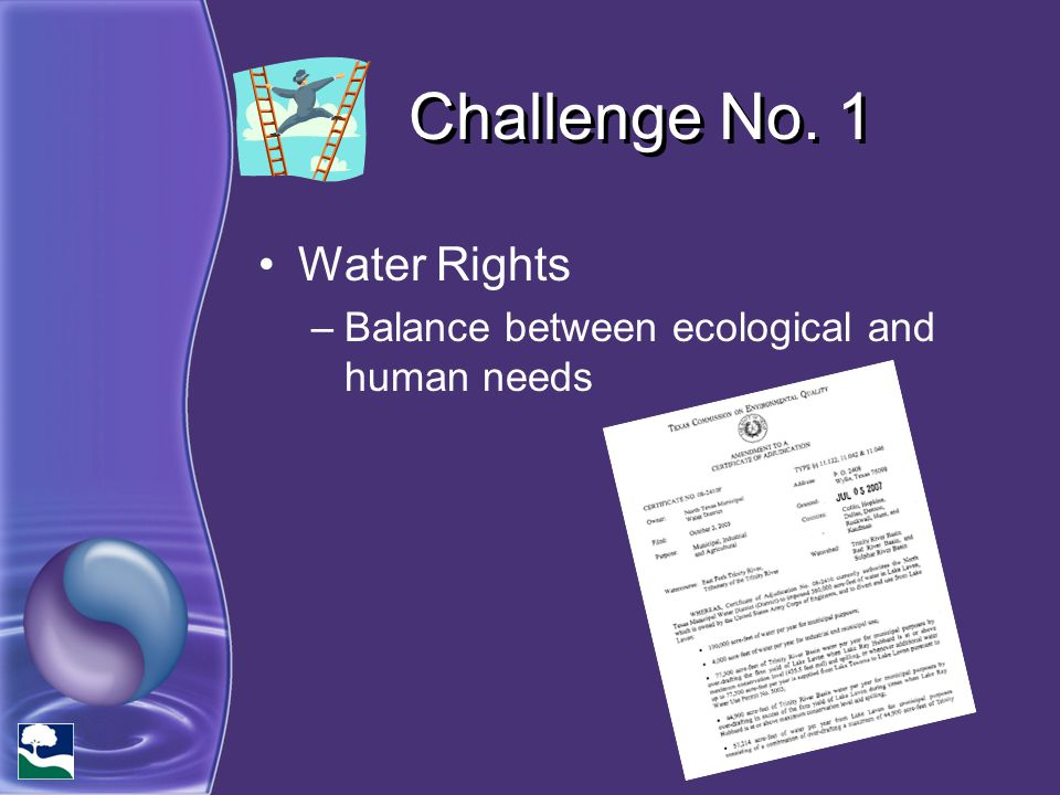 Challenge No. 1 Water Rights