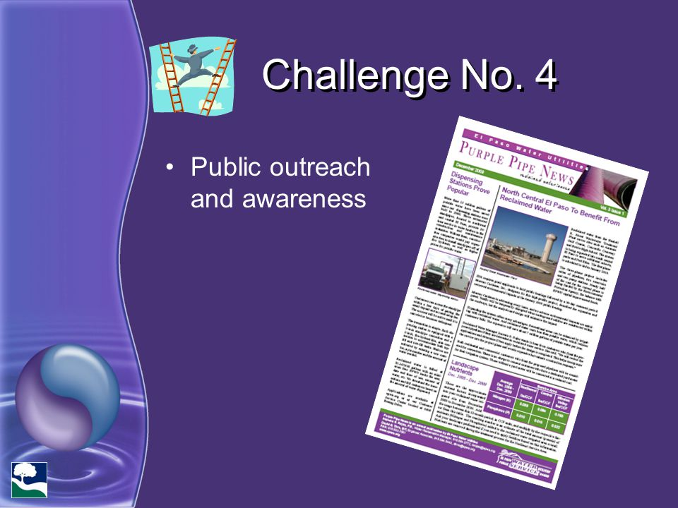 Challenge No. 4 Public outreach and awareness