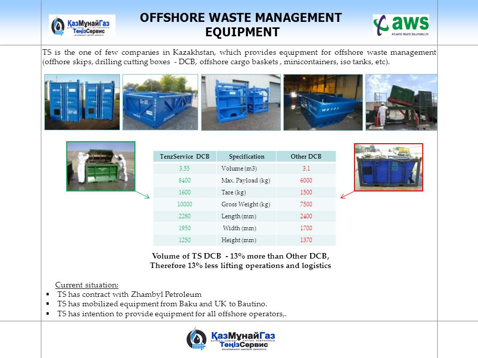 OFFSHORE WASTE MANAGEMENT EQUIPMENT