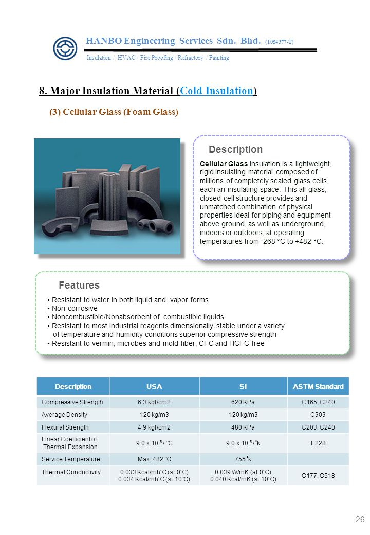 8. Major Insulation Material (Cold Insulation)