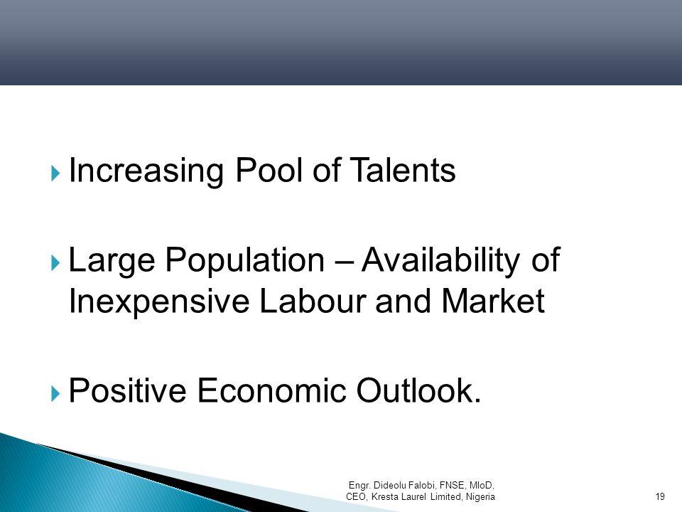Increasing Pool of Talents