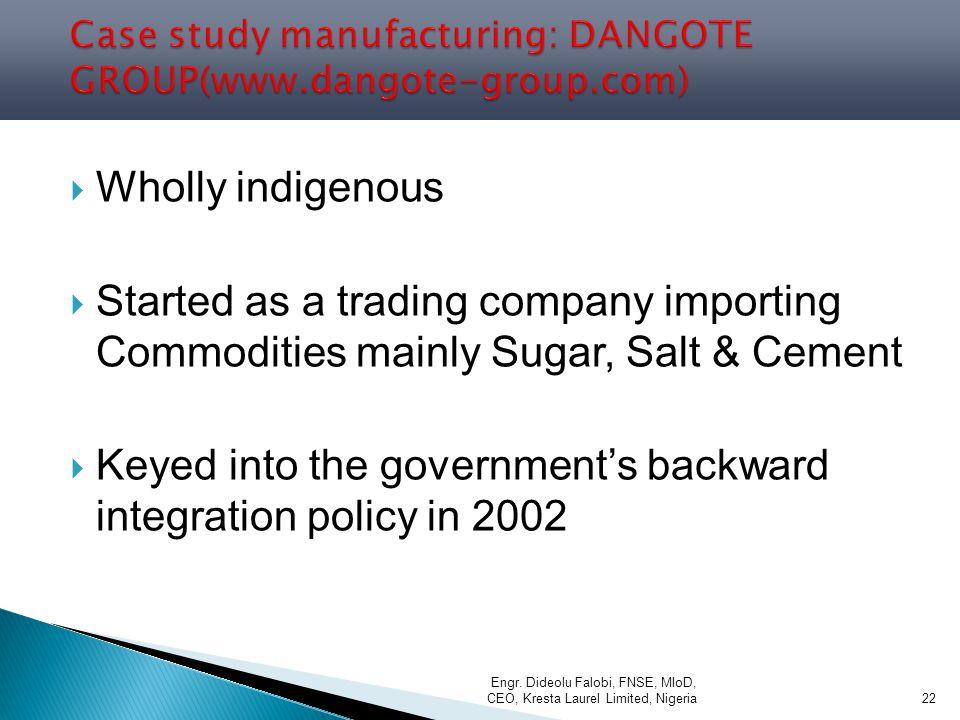 Case study manufacturing: DANGOTE GROUP(www.dangote-group.com)