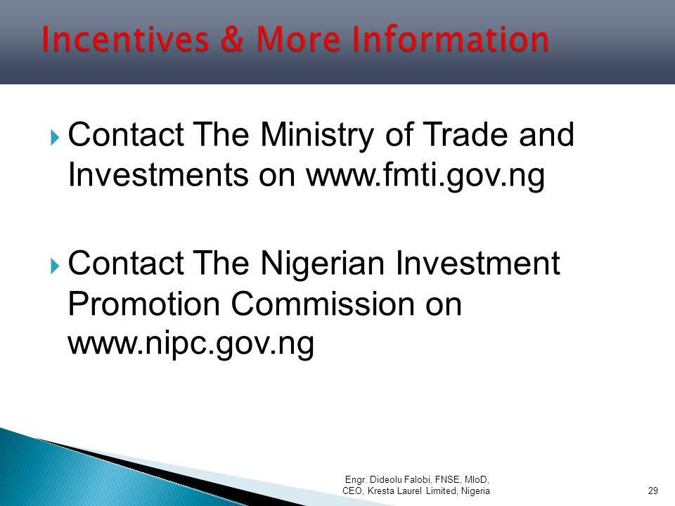 Incentives & More Information