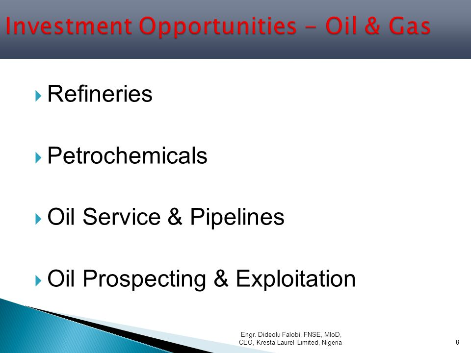 Investment Opportunities - Oil & Gas