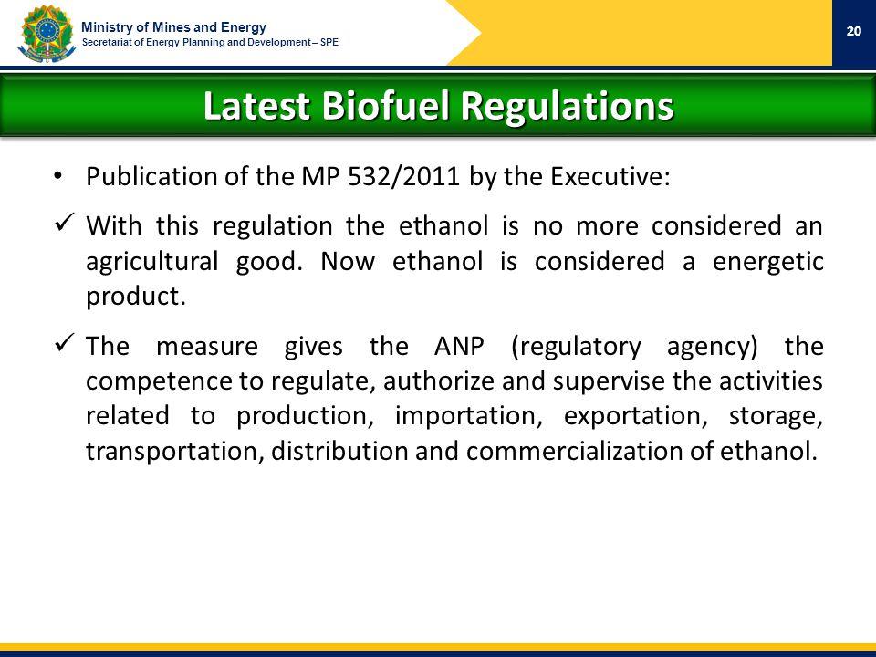 Latest Biofuel Regulations