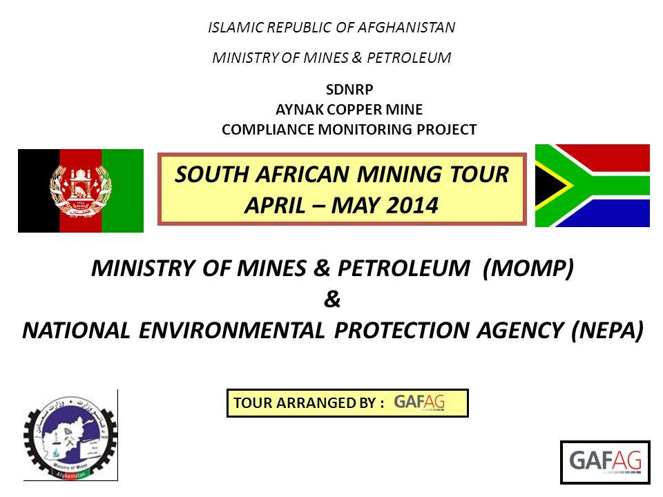 SOUTH AFRICAN MINING TOUR APRIL – MAY 2014