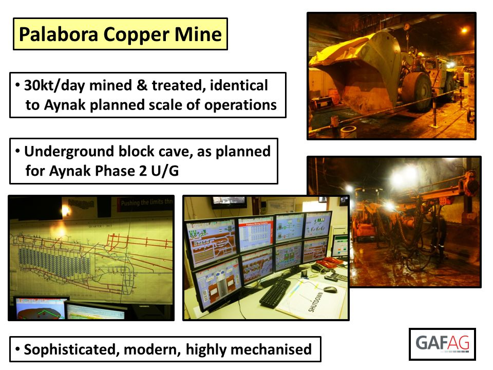 Palabora Copper Mine 30kt/day mined & treated, identical