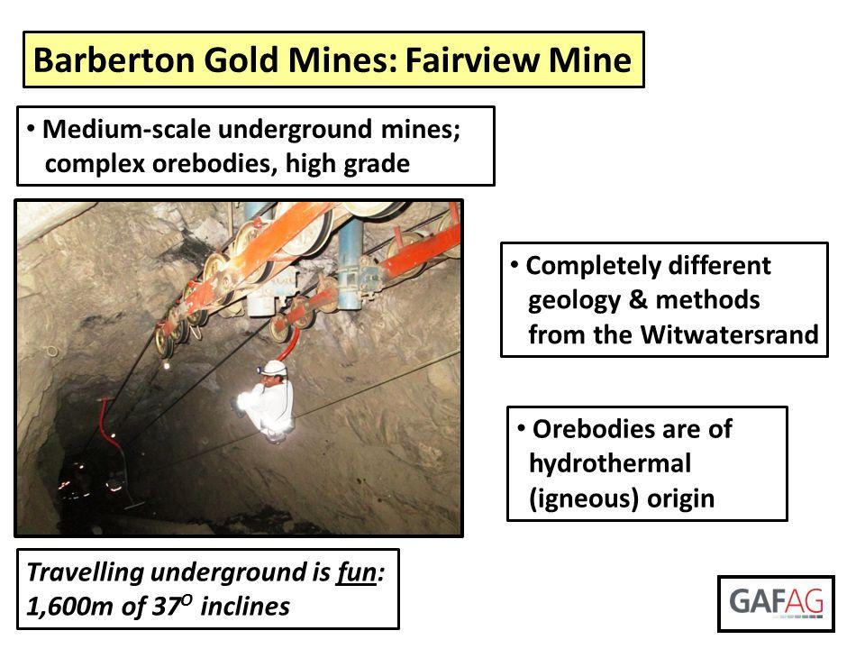 Barberton Gold Mines: Fairview Mine