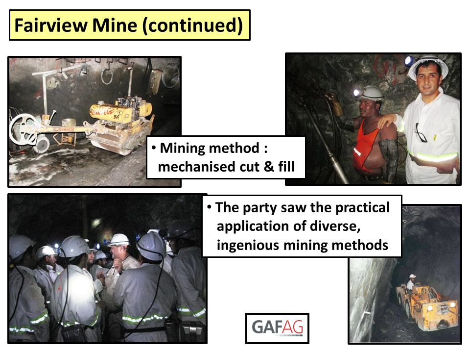 Fairview Mine (continued)