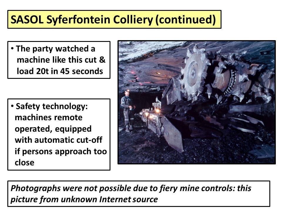 SASOL Syferfontein Colliery (continued)