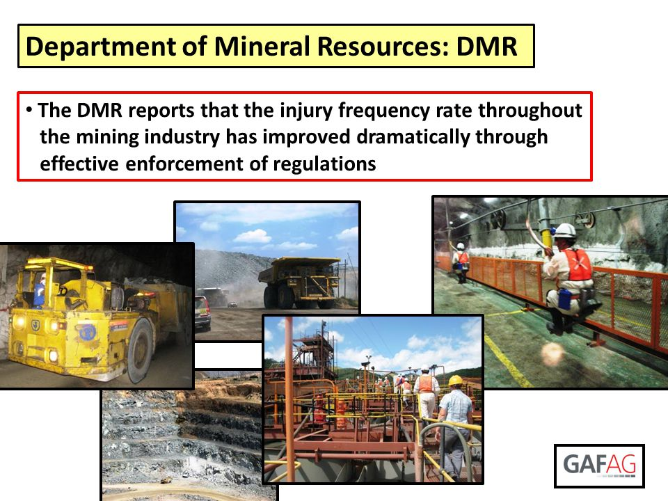 Department of Mineral Resources: DMR