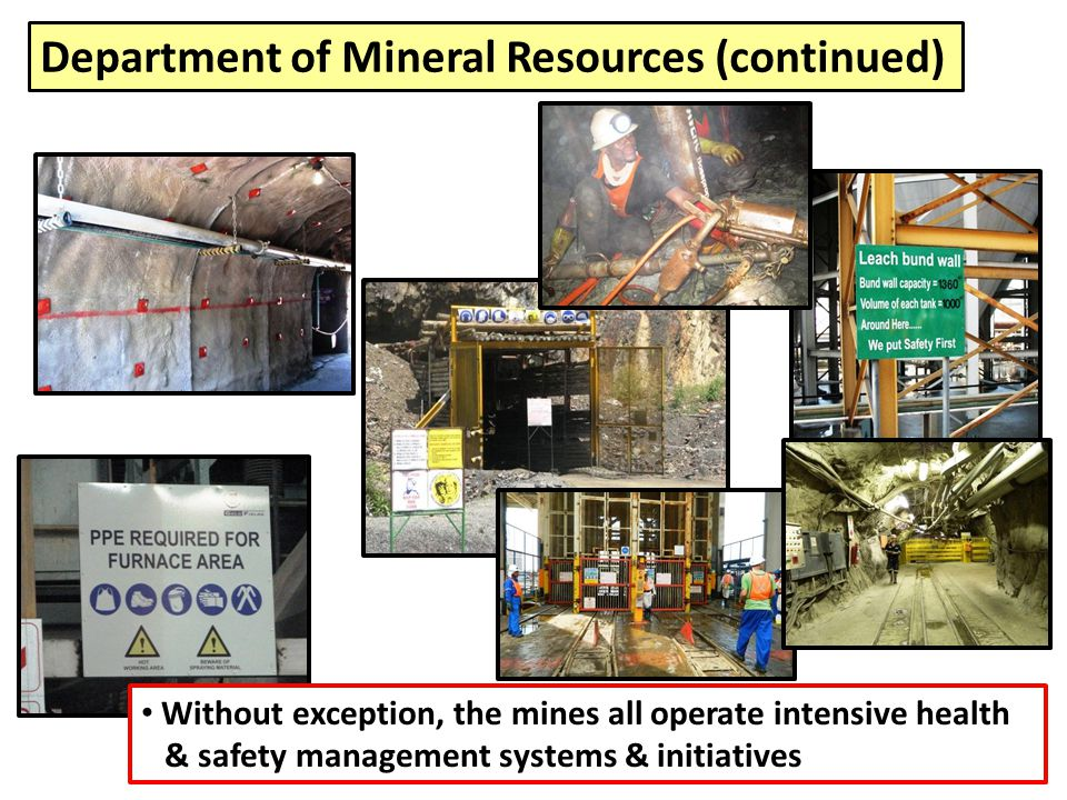 Department of Mineral Resources (continued)