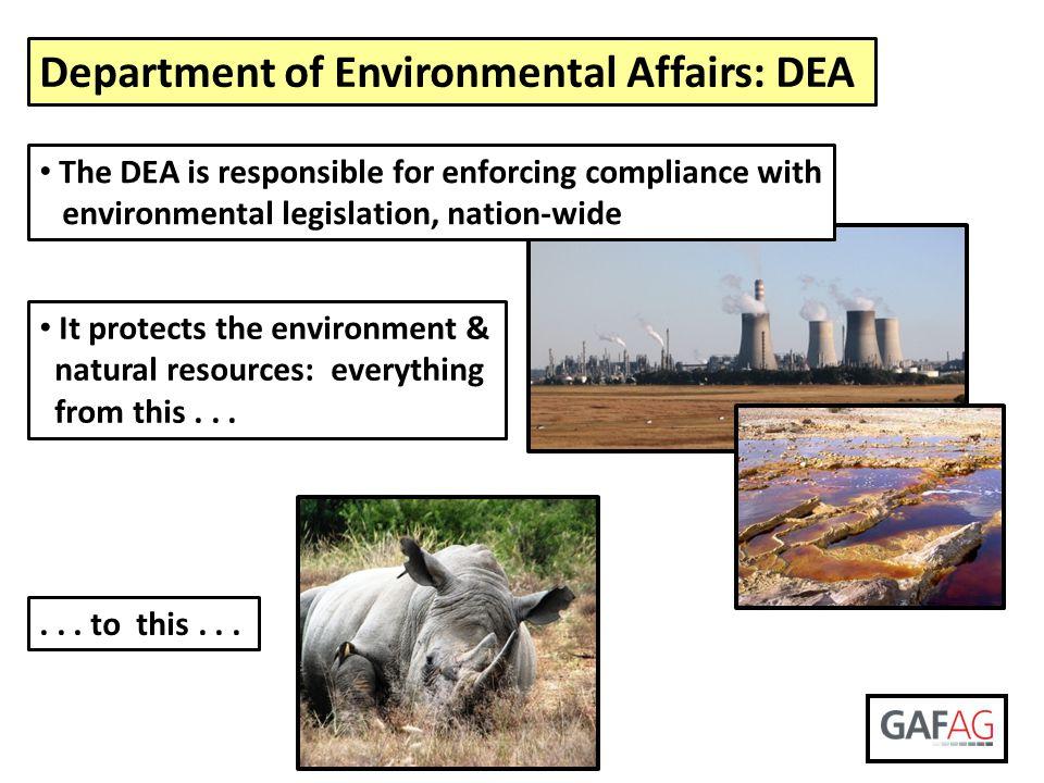 Department of Environmental Affairs: DEA