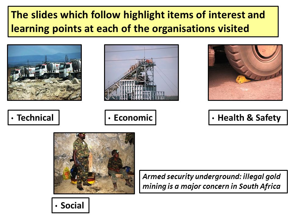 The slides which follow highlight items of interest and learning points at each of the organisations visited