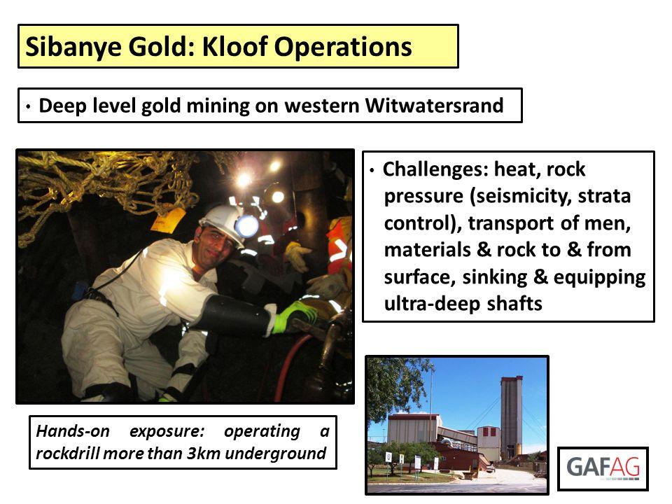 Sibanye Gold: Kloof Operations