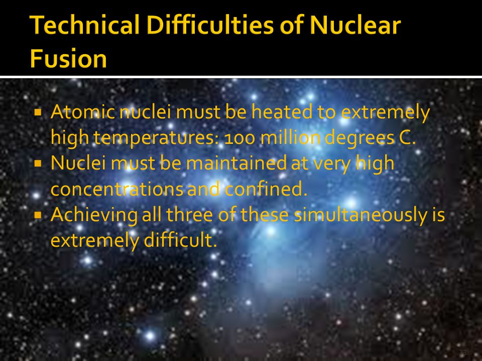 Technical Difficulties of Nuclear Fusion