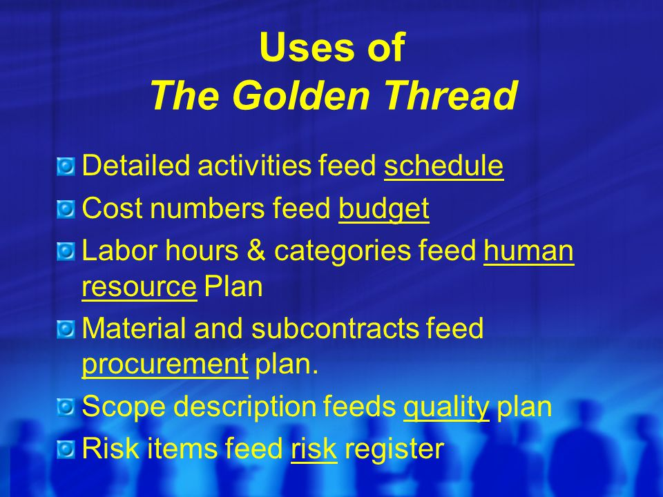 Uses of The Golden Thread