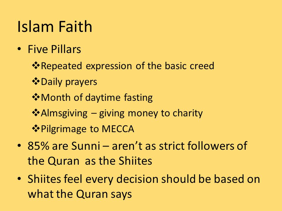 Islam Faith Five Pillars