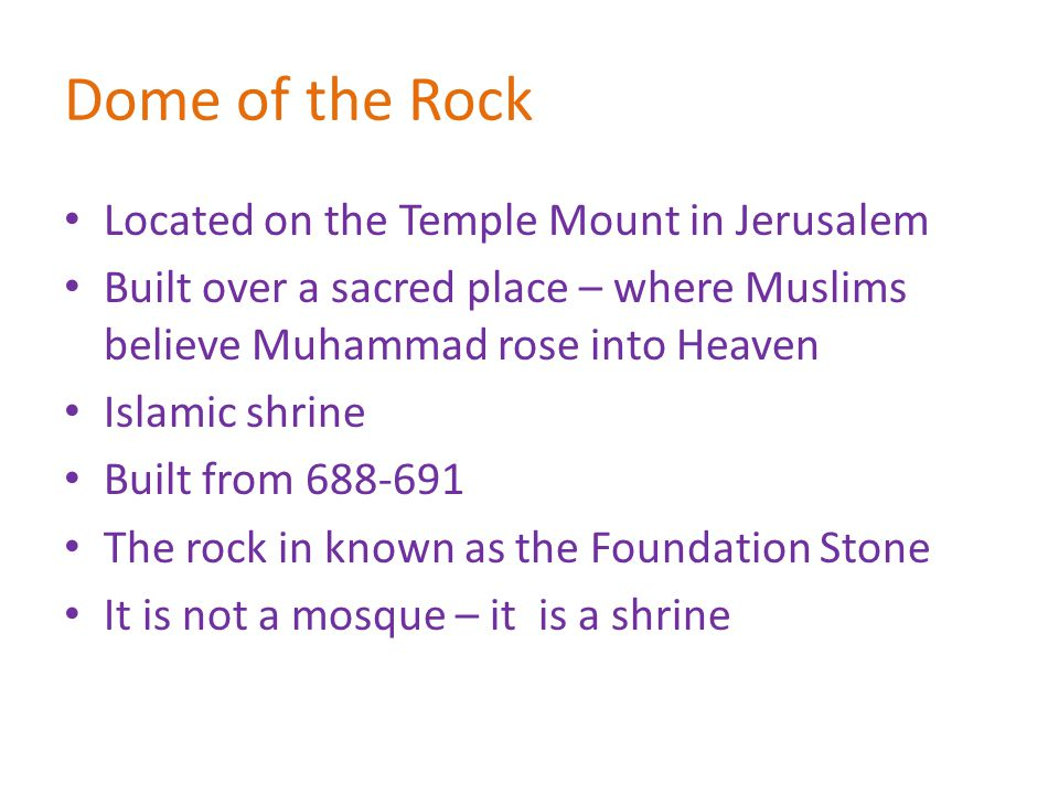 Dome of the Rock Located on the Temple Mount in Jerusalem
