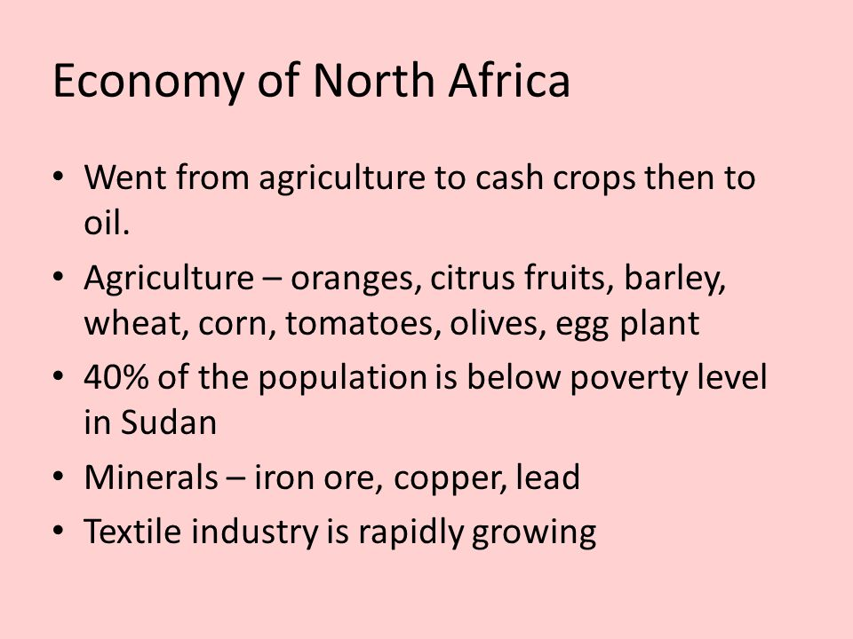 Economy of North Africa